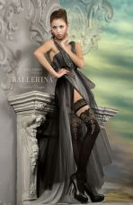 Ballerina 220 Hold Up Nero Lurex